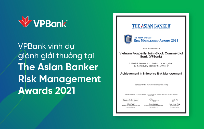 VPBank lần thứ 2 liên tiếp nhận giải thưởng quản trị rủi ro danh giá cấp châu lục - Ảnh 1.