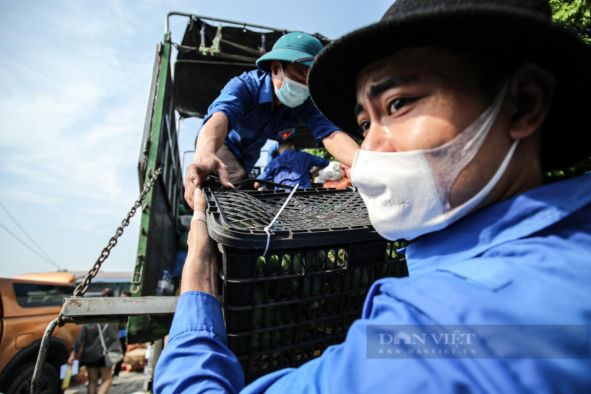 Hà Nội đón nhận 60 tấn nhu yếu phẩm từ nhân dân Hà Giang ủng hộ - Ảnh 9.