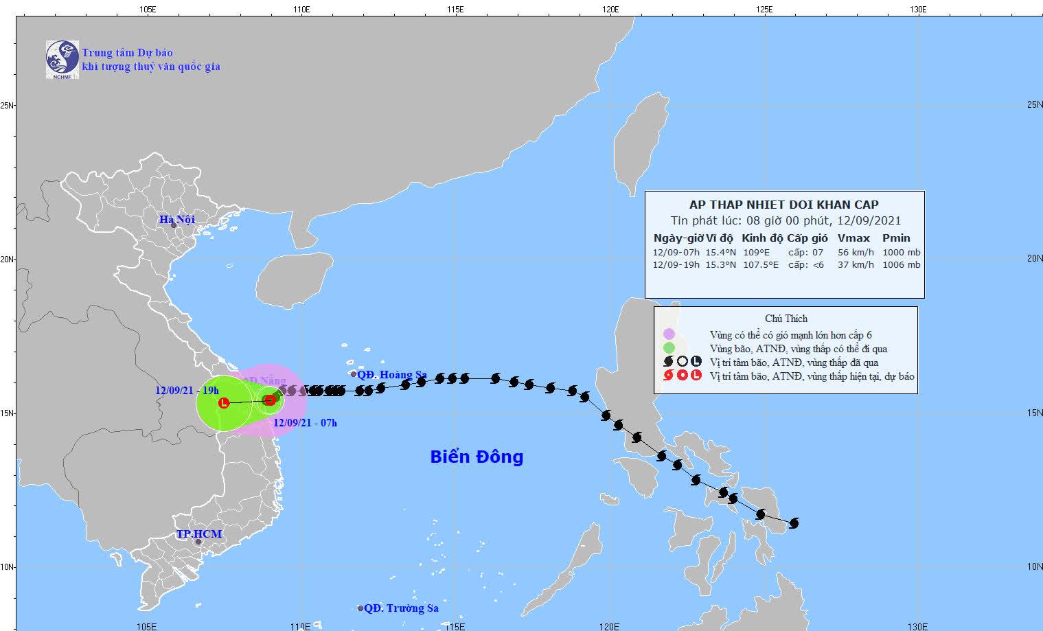 Bão số 5 suy yếu thành áp thấp nhiệt đới, miền Trung mưa lớn - Ảnh 1.