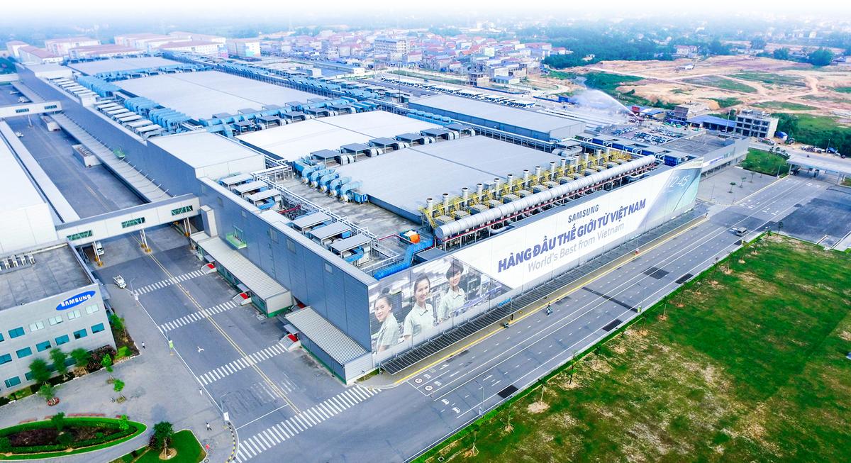 Nhà máy Samsung Việt Nam tại Bắc Ninh nhìn từ trên cao. Ảnh: @Samsung.