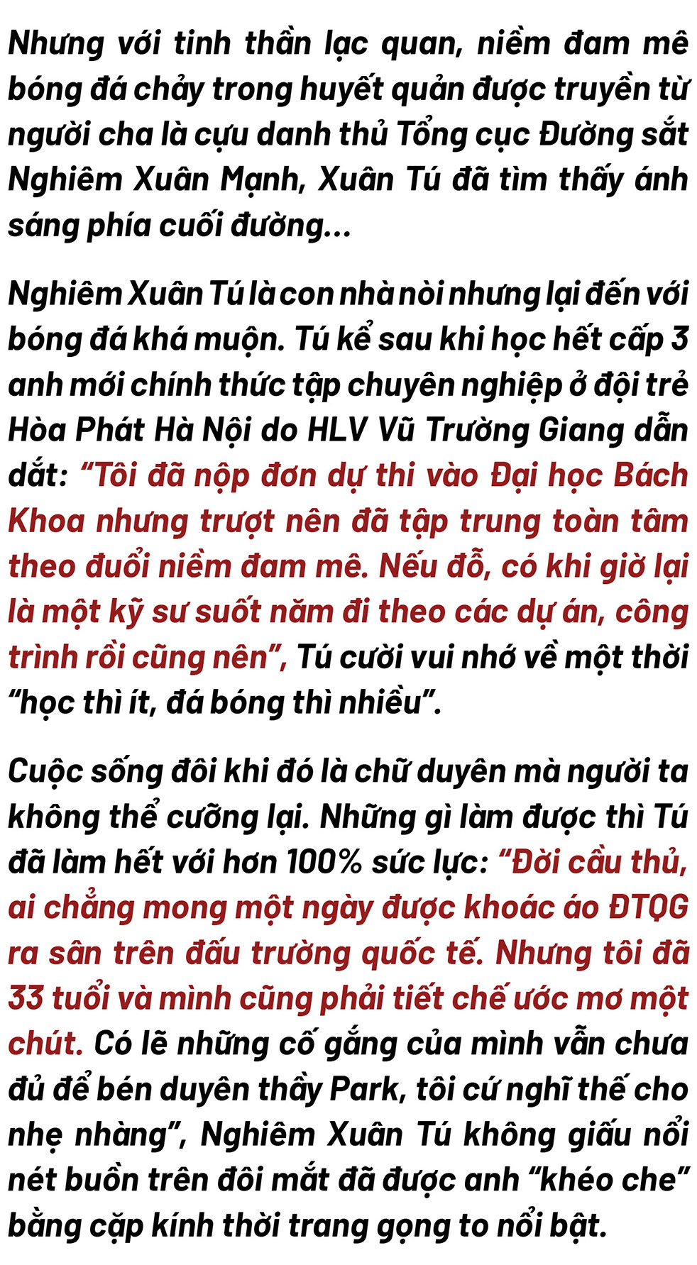 """""""Chiến binh"""" Than Quảng Ninh Nghiêm Xuân Tú: Lên đội tuyển quốc gia không phải đích đến duy nhất  - Ảnh 2."""