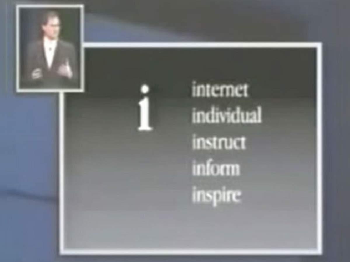 """Bên cạnh Internet, thì chữ """"i"""" còn là viết tắt của """"individual"""" (tính cá nhân), """"instruct (hướng dẫn), """"inform"""" (truyền thông tin) và """"inspire"""" (truyền cảm hứng). Ảnh: @AFP."""