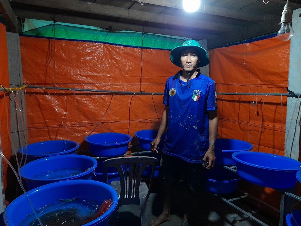 """Quây bạt ngoài đồng nuôi lươn đẻ, anh nông dân trẻ tỉnh An Giang sống """"khỏe re"""" - Ảnh 4."""