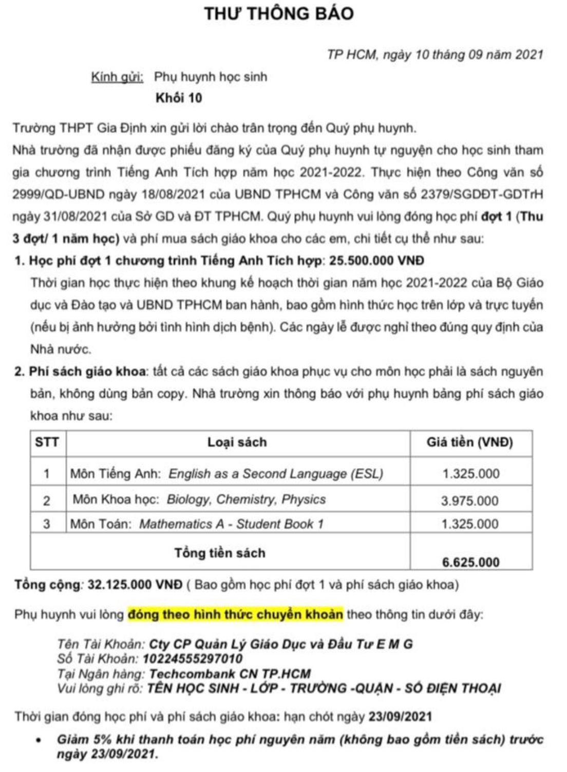 TP.HCM: Phụ huynh bức xúc tiền học phí chương trình tiếng Anh tích hợp - Ảnh 2.