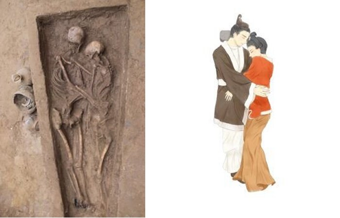 Hài cốt cặp uyên ương 1.500 tuổi ôm chặt nhau và chuyện tình lay động triệu trái tim - Ảnh 1.