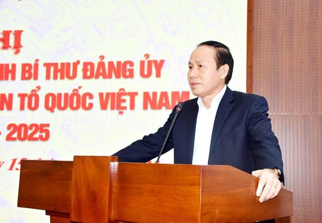 Ông Lê Tiến Châu được chỉ định chức vụ Đảng của Cơ quan Trung ương Mặt trận Tổ quốc Việt Nam - Ảnh 1.