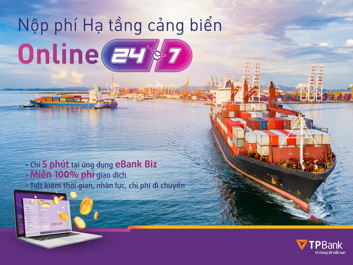 TPBank triển khai tính năng thu phí hạ tầng cảng biển trực tuyến - Ảnh 1.
