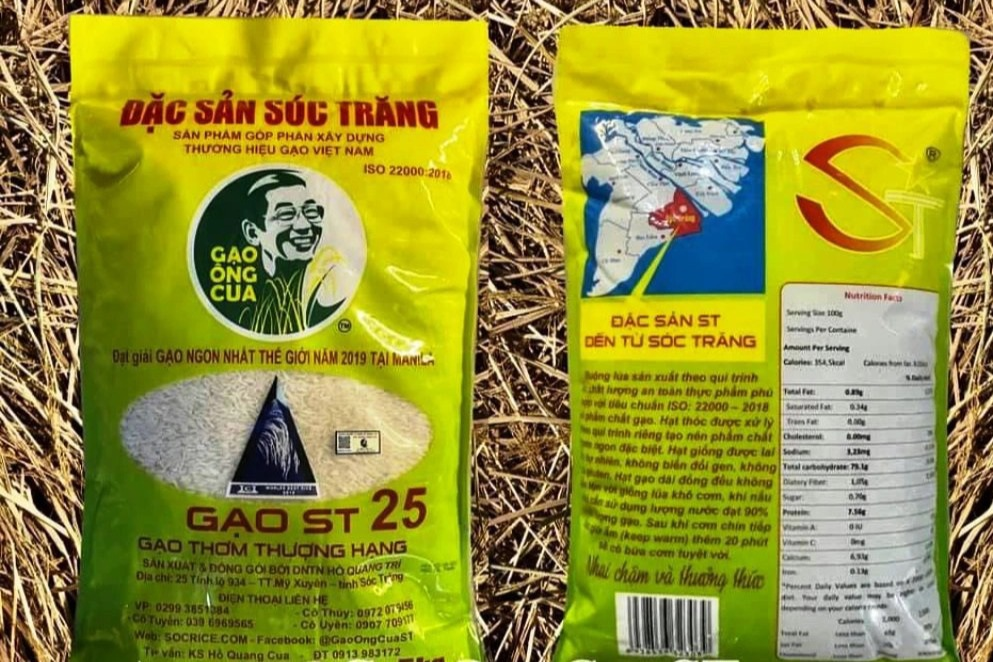 Gạo ngon nhất thế giới của ông Hồ Quang Cua lại tiếp tục bị làm giả - Ảnh 1.