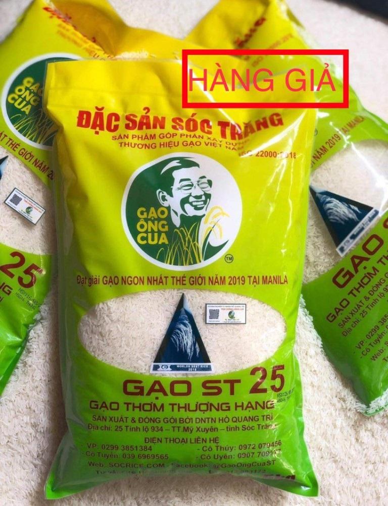 Gạo ngon nhất thế giới của ông Hồ Quang Cua lại tiếp tục bị làm giả - Ảnh 2.