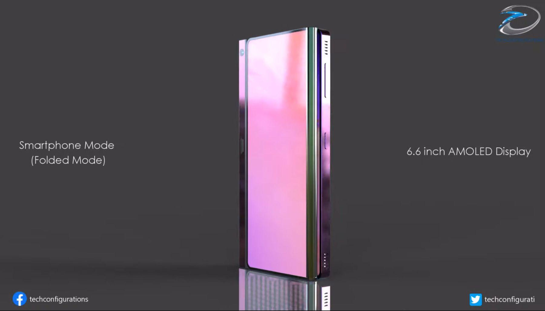 Cấu trúc camera selfie ẩn dưới màn hình tốt hơn sẽ có mặt trên Galaxy Z Fold 4. Ảnh: @Techconfigurations.