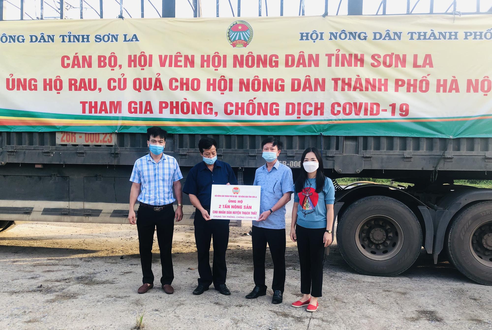 Hội Nông dân Sơn La hỗ trợ trên 100 tấn nông sản cho các tỉnh, thành phố chống dịch - Ảnh 2.