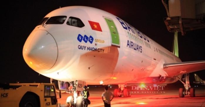 """Thông điệp đặc biệt """"Quy Nhơn city"""" trên chuyến bay thẳng đầu tiên của Bamboo Airways đến Hoa Kỳ - Ảnh 1."""