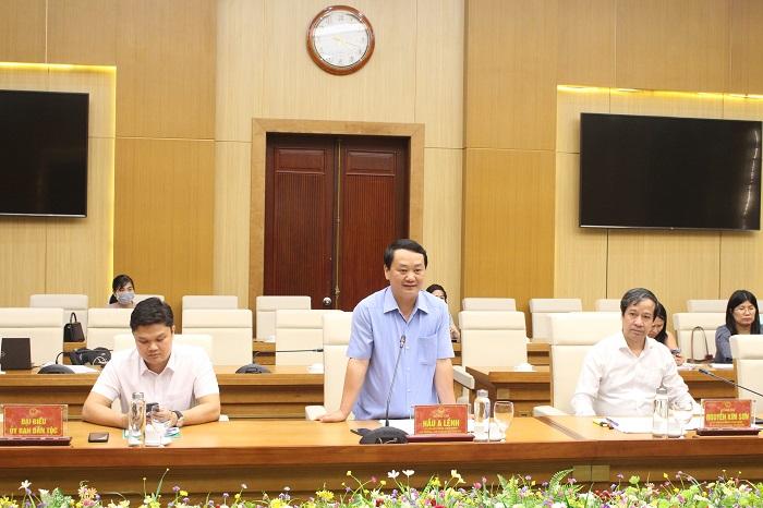 Bộ trưởng, Chủ nhiệm UBDT Hầu A Lềnh: Các chính sách dân tộc cần đồng bộ, phù hợp với yêu cầu của thực tiễn - Ảnh 2.