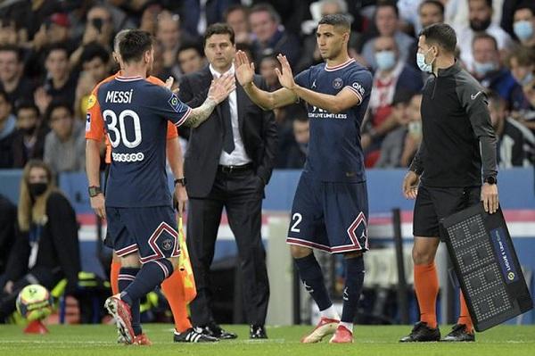Hakimi ca ngợi Messi. Ảnh: Goal