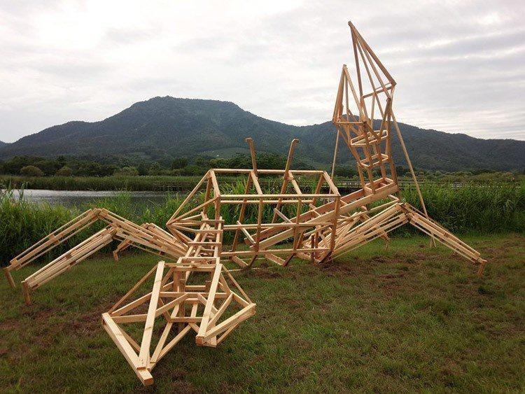 Ảnh: Nông dân Nhật Bản tạo ra các công trình nghệ thuật từ rơm rạ - Ảnh 9.