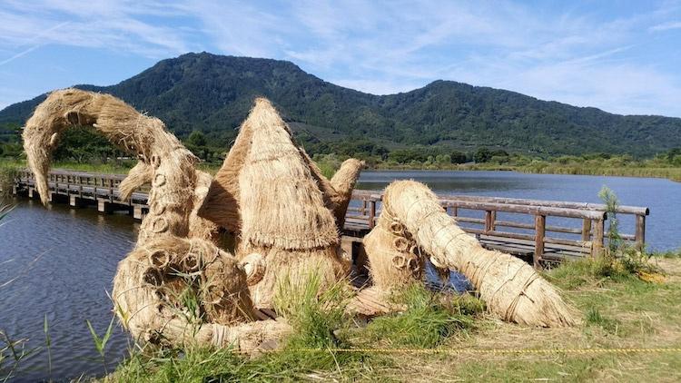 Ảnh: Nông dân Nhật Bản tạo ra các công trình nghệ thuật từ rơm rạ - Ảnh 4.