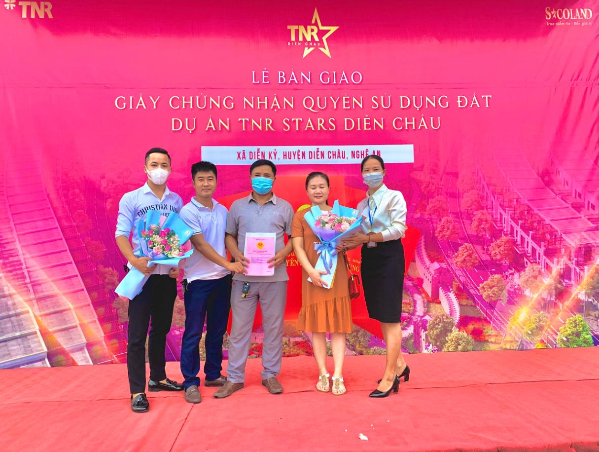 Dự án TNR Stars Diễn Châu bàn giao sổ đỏ đợt đầu cho cư dân - Ảnh 3.