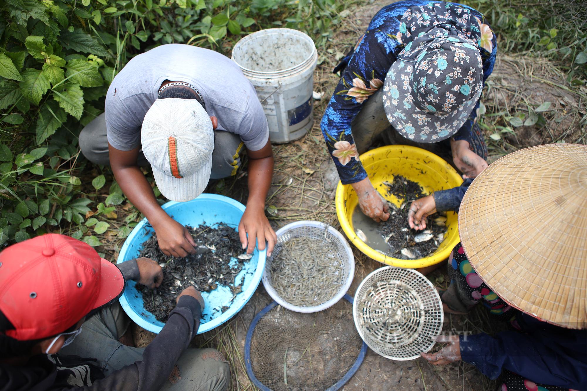 Ảnh: Người dân lao động mò cua, bắt cá lay lắt sống qua ngày tại TP.HCM - Ảnh 4.