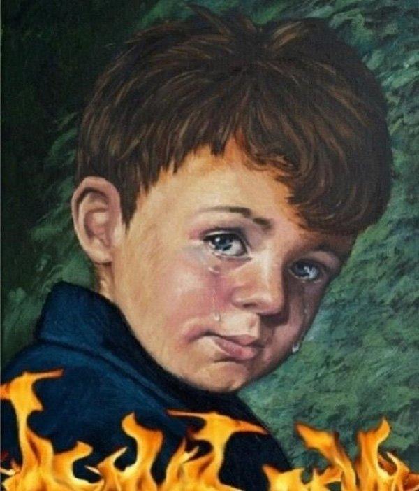 """Vì sao bức tranh """"Cậu bé khóc"""" khiến tất cả mọi vật bị thiêu rụi? - Ảnh 4."""