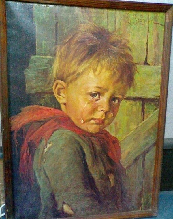 """Vì sao bức tranh """"Cậu bé khóc"""" khiến tất cả mọi vật bị thiêu rụi? - Ảnh 5."""