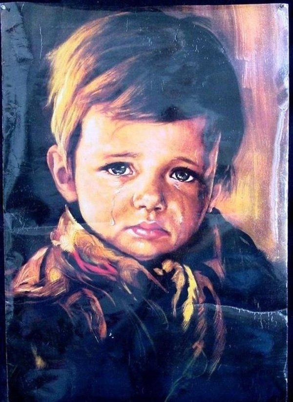 """Vì sao bức tranh """"Cậu bé khóc"""" khiến tất cả mọi vật bị thiêu rụi? - Ảnh 6."""