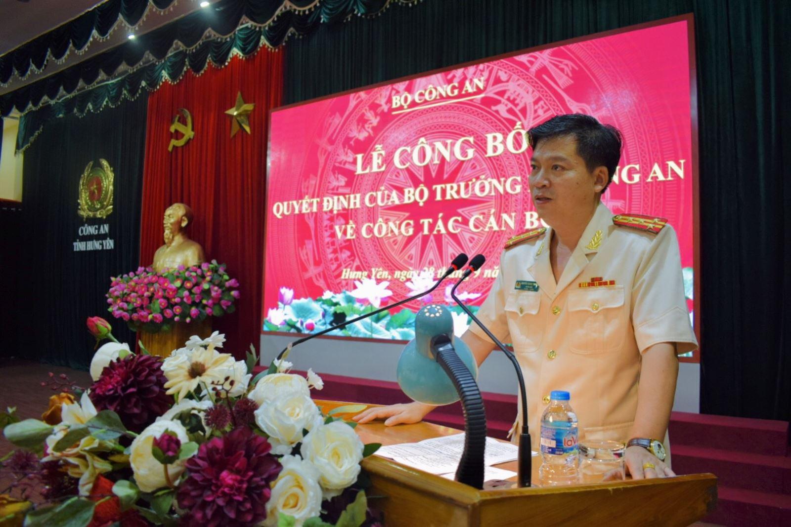 Giám đốc Công an Thái Bình được điều động, bổ nhiệm giữ chức Giám đốc Công an Hưng Yên - Ảnh 1.