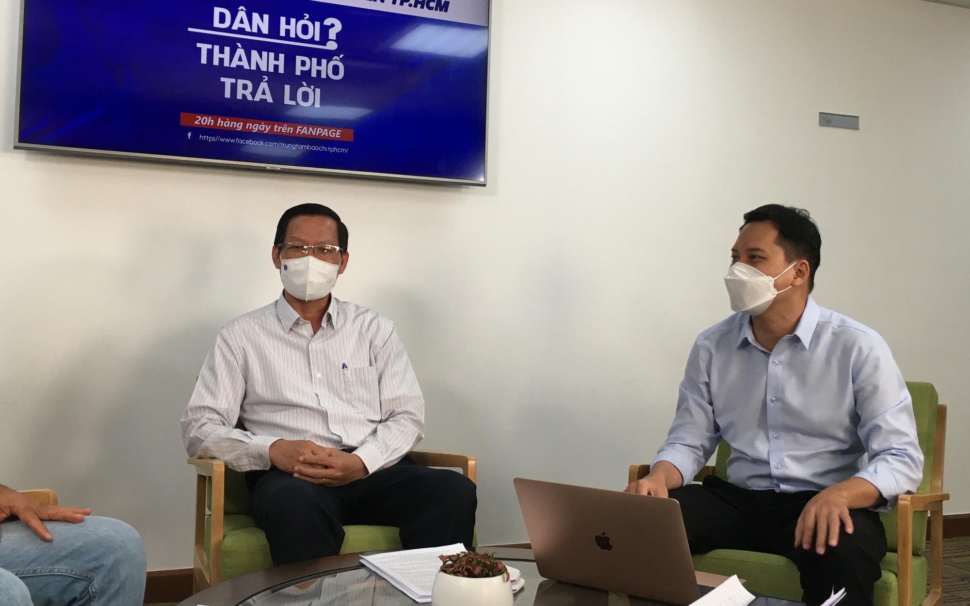 Lần đầu tiên Chủ tịch UBND TP.HCM lên sóng livestream: Sau 15/9 đã nới lỏng giãn cách?