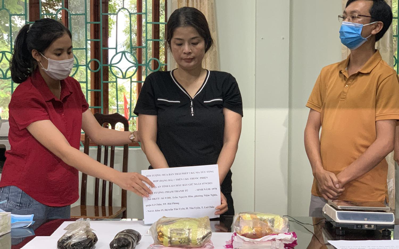 Lai Châu: Phá chuyên án 596T bắt 2 đối tượng, thu 3,4kg ma tuý