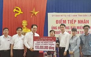 Agribank Đắk Lắk ủng hộ đồng bào miền Trung bị thiệt hại do mưa lũ