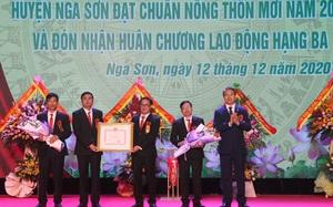 Thanh Hóa: Thêm một huyện đón NTM và nhận Huân chương Lao động hạng Ba