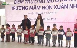 Clip: Báo NTNN/điện tử Dân Việt khánh thành điểm trường mơ ước tại Vân Hồ, Sơn La