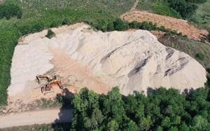 Quảng Ngãi: Ai là chủ bãi chứa cát khủng trái phép gần trụ sở UBND xã Bình Thanh?