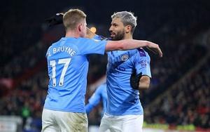 Đang đà thăng hoa, Man City nhận tin sốc về Aguero và De Bruyne