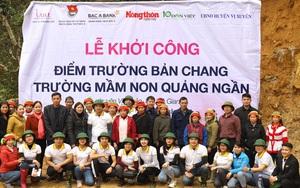 Báo NTNN/Điện tử Dân Việt và Ngân hàng Bắc Á khởi công điểm trường Bản Chang (Hà Giang)