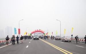 Cầu Thăng Long kết nối đường Vành đai 3 tới sân bay Nội Bài
