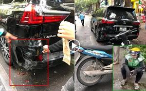 CLIP: Shipper bật khóc sau khi đâm vào đuôi xe sang Lexus LX570 trên phố Hà Nội