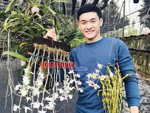 Hotboy mắt hí trồng vườn lan rừng tiền tỷ ở đất Bình Phước