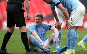 """De Bruyne chấn thương, Man City nguy cơ vỡ mộng """"ăn ba"""""""