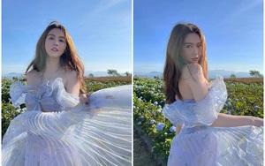 """Sau vụ trộm 10 tỷ, Ngọc Trinh tung bộ ảnh đẹp như công chúa trên Đà Lạt để """"xả xui"""""""