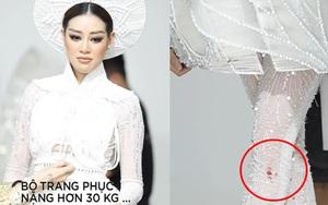 """Clip tiết lộ Hoa hậu Khánh Vân từng bị thương khi mặc trang phục """"Kén em"""" nặng 30kg"""