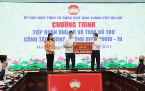 Hà Nội tiếp nhận 11,370 tỷ đồng ủng hộ công tác phòng, chống dịch Covid-19