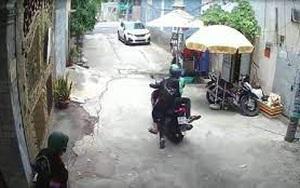 Clip: Thanh niên mặc áo xe ôm công nghệ cùng đồng bọn dàn cảnh cướp tài sản