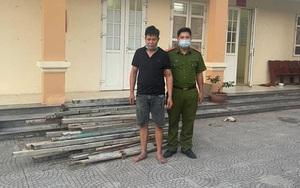 """Hà Nam: Một thanh niên có tiền án tội trộm cắp, vẫn liều """"cuỗm"""" sắt xây dựng"""