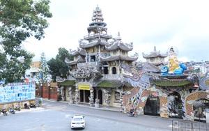 Lâm Đồng: Chùa Ve Chai ở thành phố Đà Lạt được khảm hàng trăm tấn gốm Bát Tràng đủ màu sắc