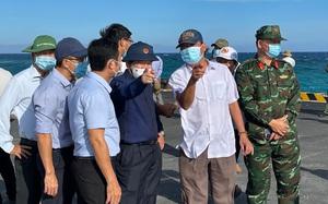 Quảng Ngãi: Chủ tịch tỉnh kiểm tra hiện trường một số dự án trọng điểm ở Lý Sơn