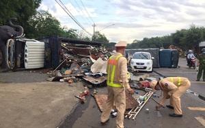 Đắk Lắk: Tai nạn liên hoàn  giữa hai xe tải và ô tô con