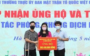 MC Thành Trung, NSƯT Xuân Bắc... trao hơn 365 triệu đồng chống Covid-19