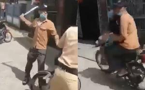 Xôn xao clip nam thanh niên dùng dao uy hiếp CSGT