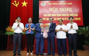 Ảnh: Hội nghị BCH T.Ư Hội Nông dân Việt Nam triển khai quyết định của Bộ Chính trị về công tác cán bộ