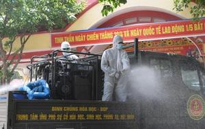 Binh chủng Hóa học đưa 15 xe đặc chủng tiêu độc, khử trùng 4 huyện ở Bắc Giang